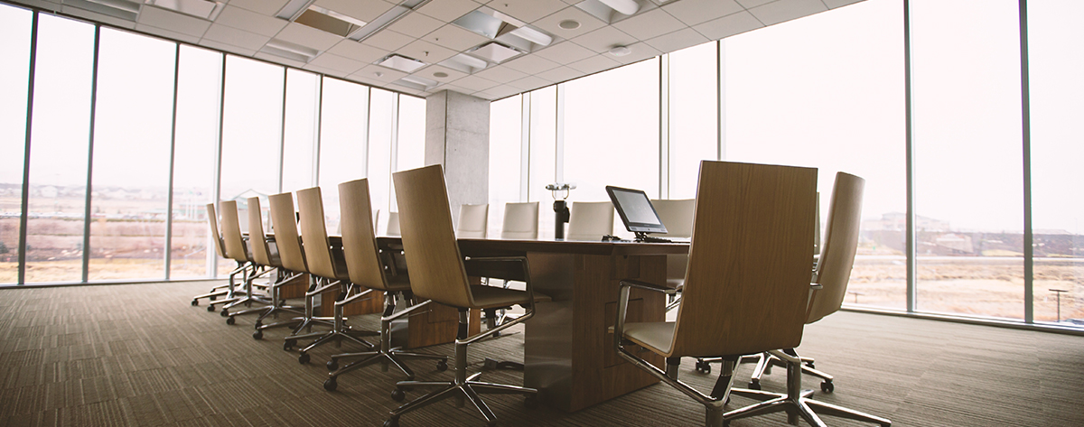About Us boardroom office